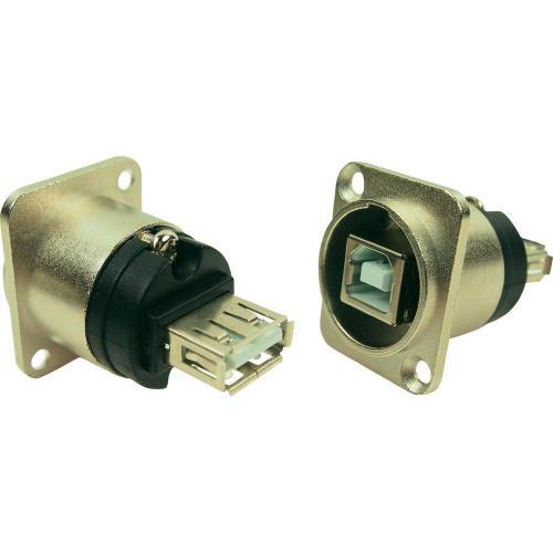 USB adaptér Typ A/Typ B Cliff CP30111, vestavný, stříbrný