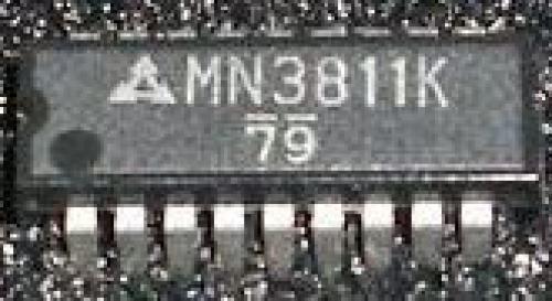 MN3811K - zpožďovací linka PAL CCD, SDIP18