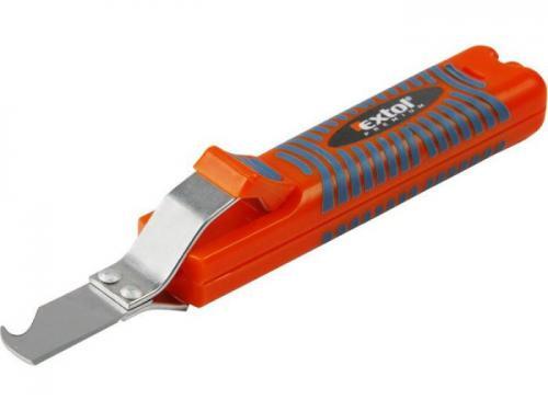 Odizolovací nůž EXTOL PREMIUM, natavitelný 8-28mm, s hákovou čepelí