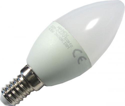 Žárovka LED E14 C35 svíčková,bílá, 230V/4,5W
