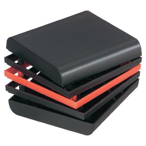 Univerzální pouzdro Strapubox 20853, 80 x 76 x 41 , ABS, černá