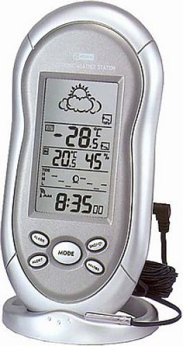 Meteostanice s vnějším čidlem (teplota, vlhkost, předpověď, DCF)