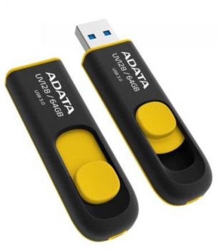 ADATA flashdisk USB UV128 64GB yellow(USB 3.0)