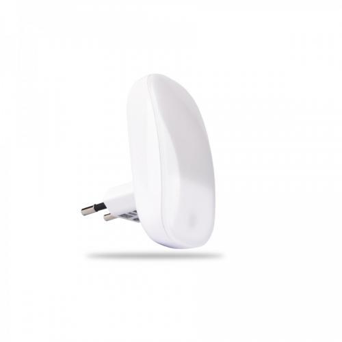 Noční LED svítidlo INQ se soumrakovým senzorem, 0,3W, bílé  NL01