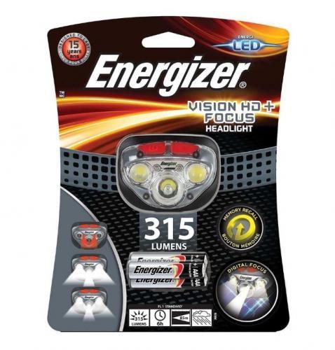 Čelová svítilna ENERGIZER Vision HD+Focus  315lm
