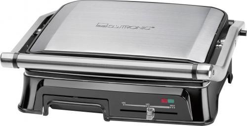Stolní elektrický gril Clatronic KG 3571, 2000 W, nerez