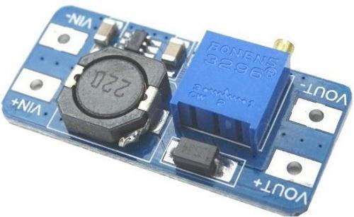 Napájecí modul, step-up měnič 2A s MT3608