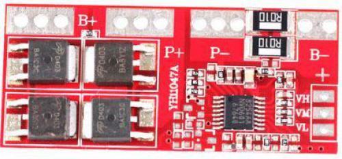 Ochranný obvod a balancér pro 4 Li-Ion články 18650, proud do 30A