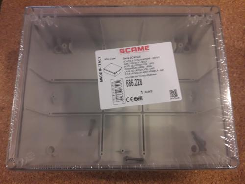 Krabice IP55 SCAME SCABOX 240x190x90 mm 686.228