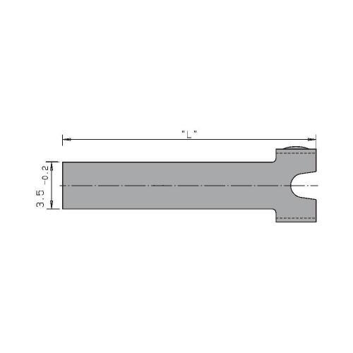 Přídavný ovladač Cherry Switches 6141232, rovná kovová páka, 1 ks