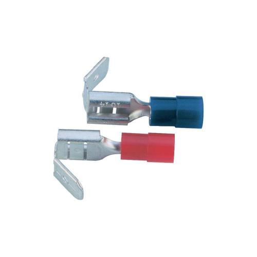 Faston zásuvka Vogt Verbindungstechnik 3933S s odbočkou, 6.3 mm x 0.8 mm, 180 °, částečná izolace, žlutá, 1 ks