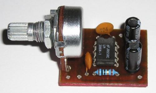 Zesilovač 1W s LM386