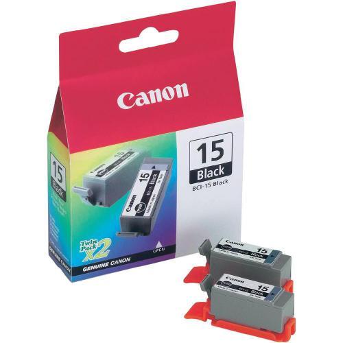 Sada 2 ks. náplní do tiskárny Canon BCI-15bk x2 8190A002, černá