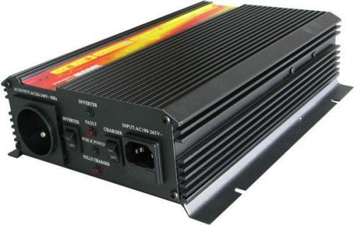Měnič+UPS+nabíječ 12V/230V/1000W, modif.sinus. CARSPA UPS1000