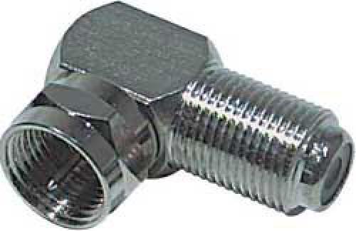 F spojka úhlová-F konektor/F zdířka