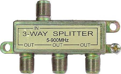 Rozbočovač IN/3xOUT 5-900 MHz s F konektory