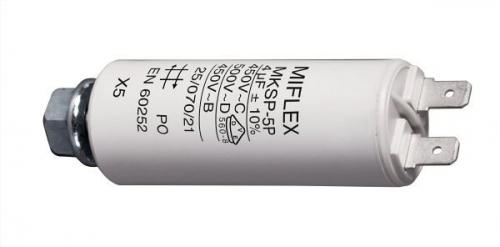 4uF/450V motorový kondenzátor MKSP-5P s fastony
