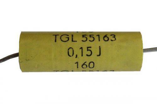 150n/160V TGL55163, svitkový kondenzátor axiální pr.9x21mm