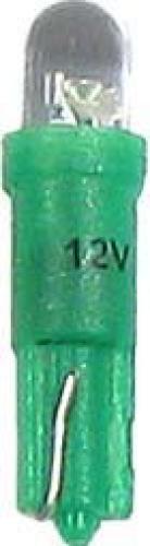 Žárovka LED T5 12V/0,25W zelená