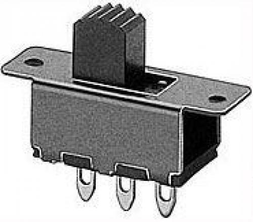 Přepínač posuvný SS-12F12, ON-ON 1pólový, 50V/0,5A