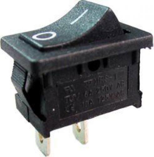 Vypínač kolébkový OFF-ON 1pol.250V/3A černý
