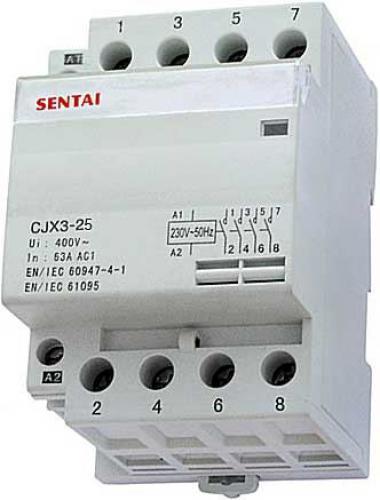 Stykač CJX3-25 230V/25A 4P na DIN lištu