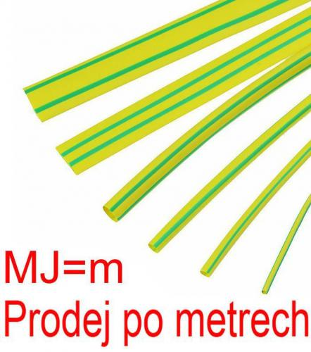 Smršťovací bužírka 5,0/2,5mm žlutozelená