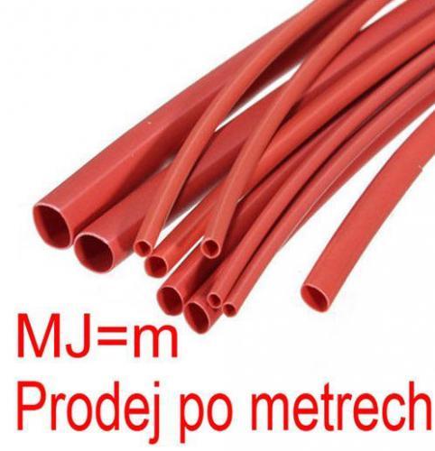 Smršťovací bužírka 4,0/2,0mm červená
