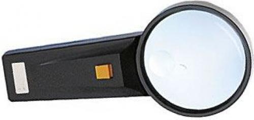 Lupa s osvětlením, průměr 75mm, napájení 2xAA