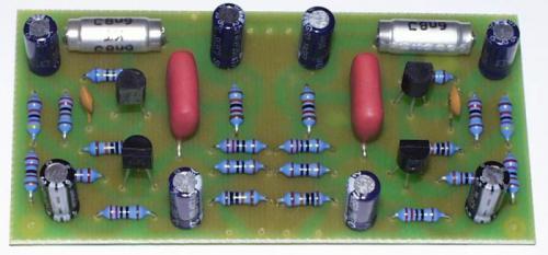 Předzesilovač pro magnetodynamickou přenosku, stereo, STAVEBNICE