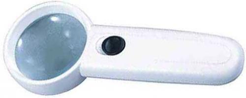 Lupa s osvětlením LED,průměr 50mm,napájení 3xAAA