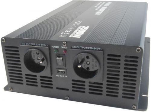 Měnič napětí 12V/230V+USB 3500W, Soluowill NM3,5K-12, modifikovaná sin