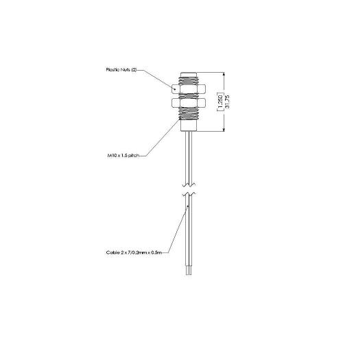 Poziční spínač Gentech PS831, 100 V/DC, 250 V/AC, 10 W, 1 A
