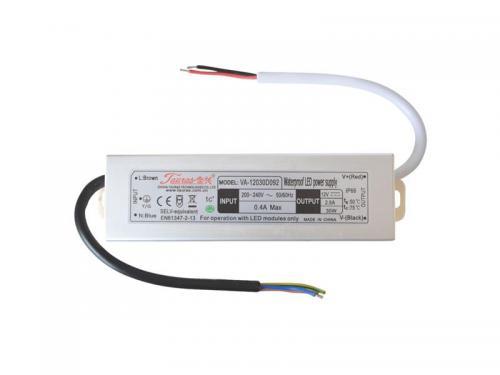 Zdroj pro LED pásky IP66, 12V/ 30W/2,5A