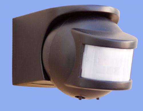 Miniaturní pohybový spínač (PIR) - detekční úhel 210° (černá barva)