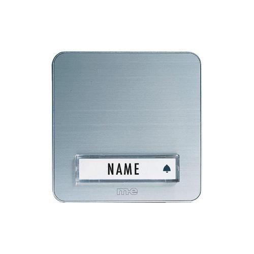 Zvonková deska M-e KTA-1 A/S, 1 tlačítko, max. 12 V/1 A, stříbrná