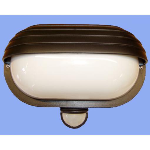 Svítidlo s pohybovým spínačem Oval PIR - černá