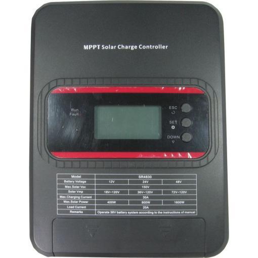 Solární regulátor MPPT SR4830, 12-48V/30A
