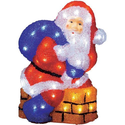 Santa Claus akrylová LED postavička Konstsmide 6172-203, barevná