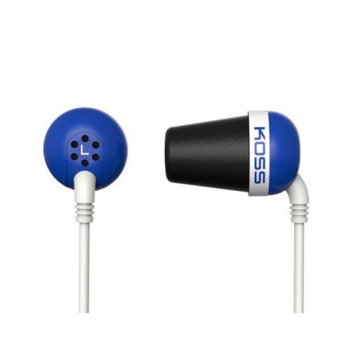 Sluchátka KOSS The PLUG Blue sportovní design, modré, DOPRODEJ