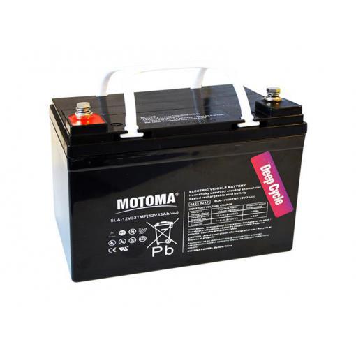 Baterie olověná 12V 33Ah MOTOMA pro elektromotory (bezúdržbový akumulátor)