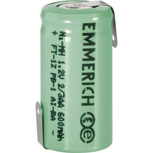 Akumulátor NiMH Emmerich 2/3 AA 600 mAh, ZLF