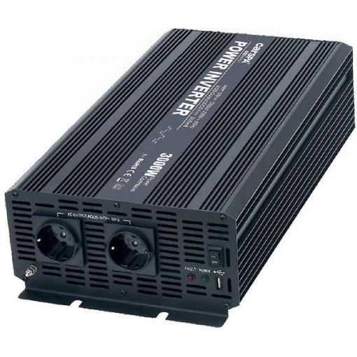 Měnič napětí 12V/230V+USB 3000W, CARSPA CAR3K, modifikovaná sinusovka