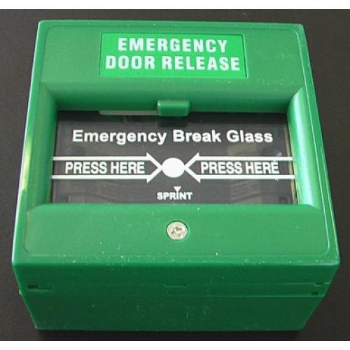 Zelené požární tlačítko SEBURY BT-014 - venkovní tlačítko