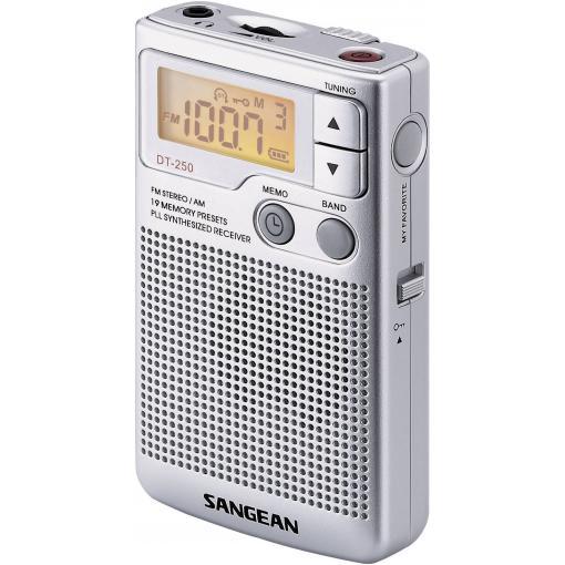 N/A Sangean Pocket 250, stříbrná