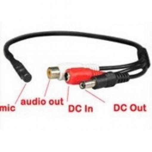 Mikrofon pro bezpečnostní DVR/NVR s předzesilovačem CCTV/AHD/CVI kamery MIC1