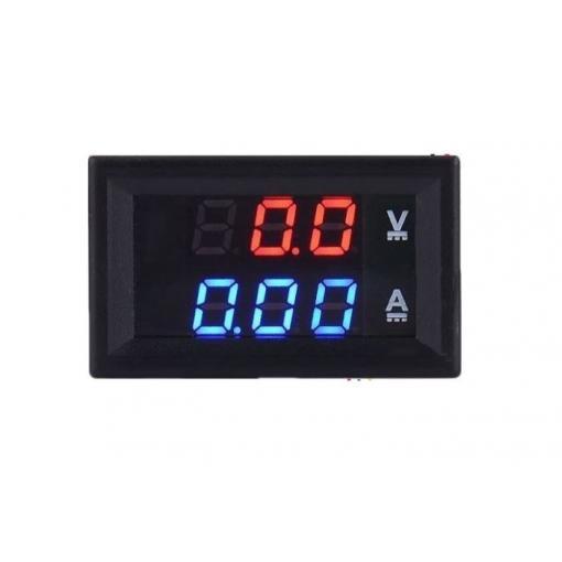 Ampérmetr / voltmetr panelový 10A 100V DC DSN VC288