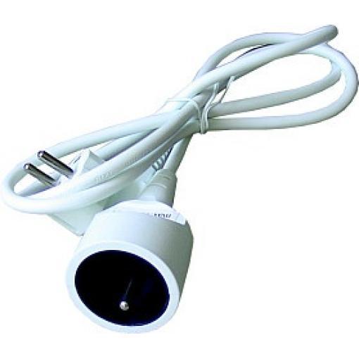 Prodlužovací přívod - spojka, 1z.  3m, 3 x 1mm2, bílá  PS03