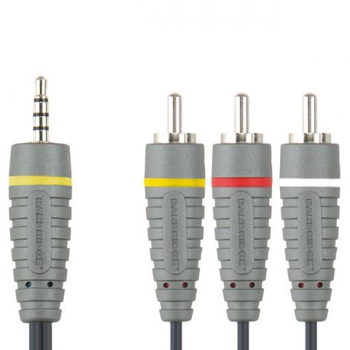 BANDRIDGE Kabel JACK 3,5 4pól > 3x CINCH konektor BN-BVL4202