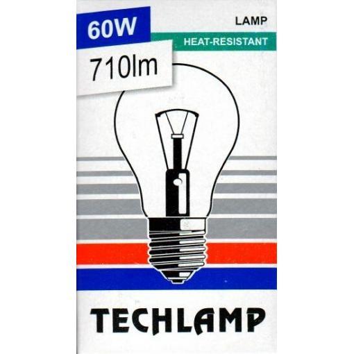 Žárovka TECHLAMP čirá 60W E27 240V A55